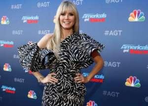 Heidi Klum Stuns In Redemption Zebra Print Dress On America's Got Talent