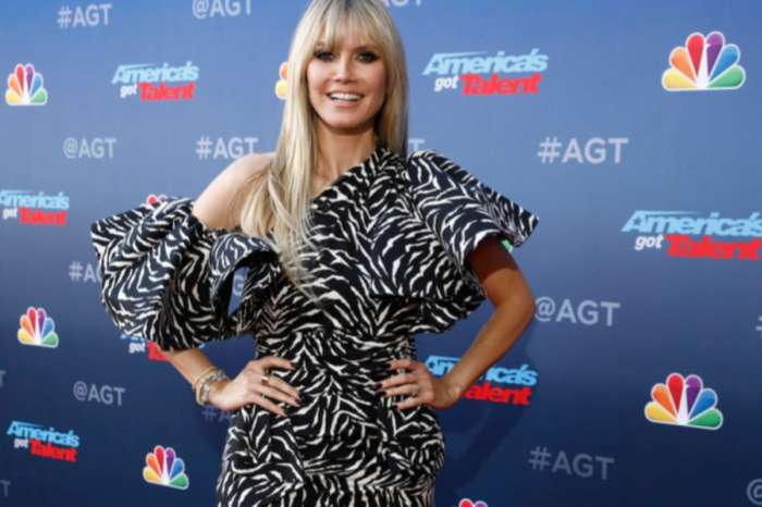 Heidi Klum Stuns In Redemption Zebra Print Dress On America's Got Talent