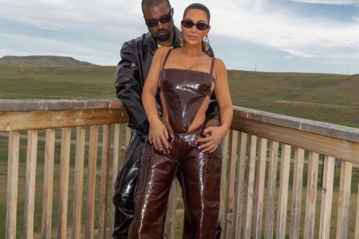 Kim Kardashian Cozies Up To Kanye West At Their Wyoming Ranch