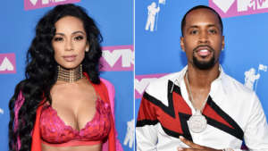 Erica Mena Shows It All In This Black Crochet Outfit That Barely Covers Her Juicy Curves