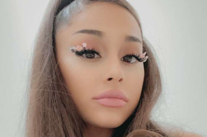 Ariana Grande Is Casual Chic In Jeans, A Cropped Sweater, And Combat Boots