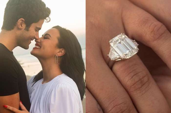Demi Lovato Wore A Retrofete Dress And Showed Off Her Peter Marco Diamond Engagement Ring