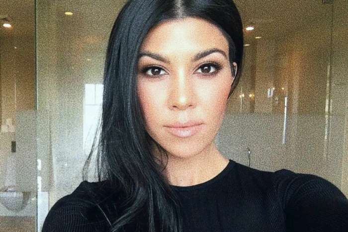 Kourtney Kardashian Wears Akoia Swim Two Piece While At The Beach With Scott Disick