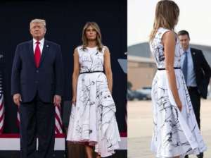 Melania Trump Dress Mocked On Social Media - People Say It Looks Like Donald Trump Drew On It With A Sharpie!