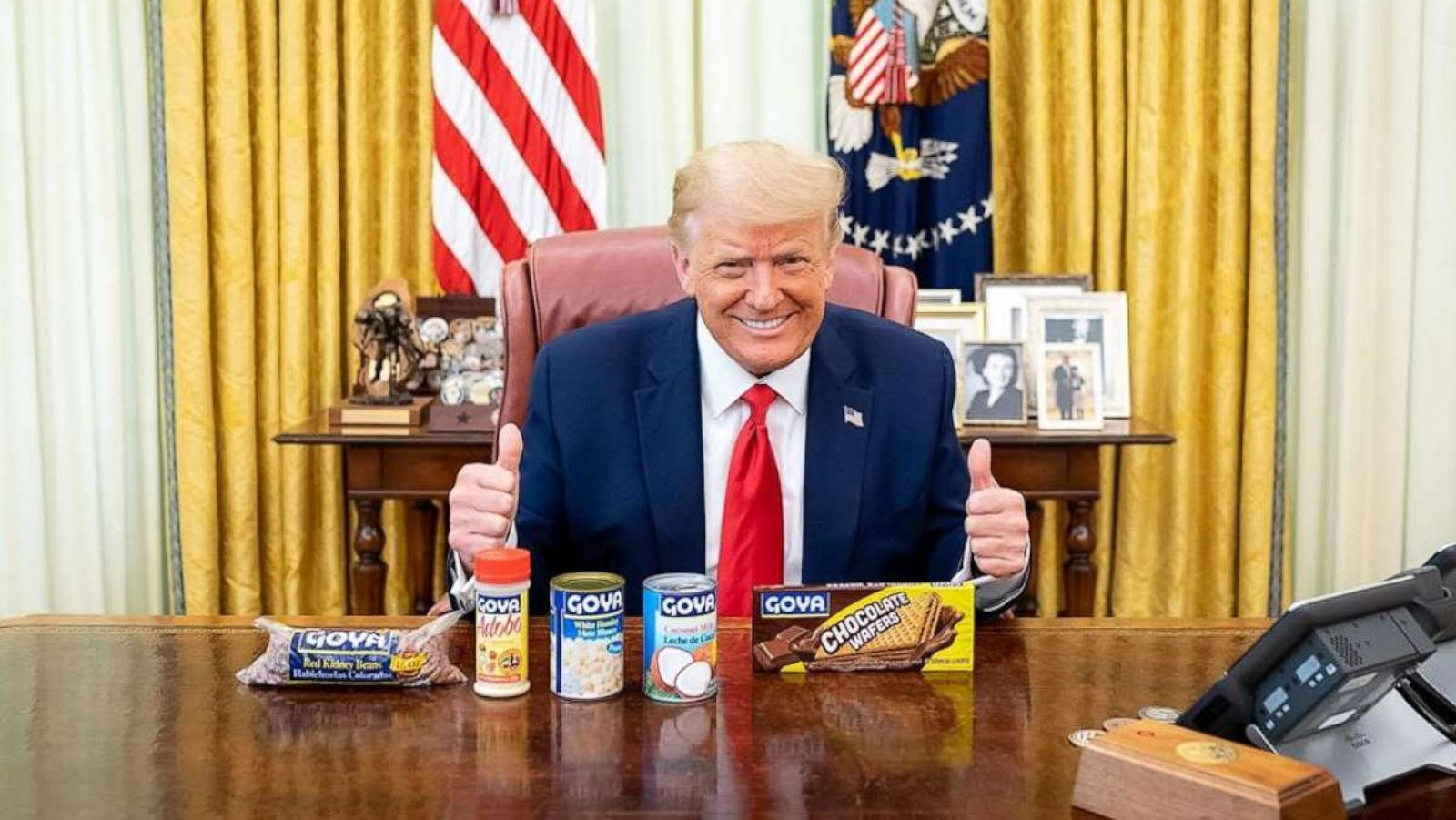 """""""donald-trumps-niece-slams-him-for-posing-with-goya-products-amid-the-pandemic-140000-americans-dead-but-hes-hawking-beans"""""""