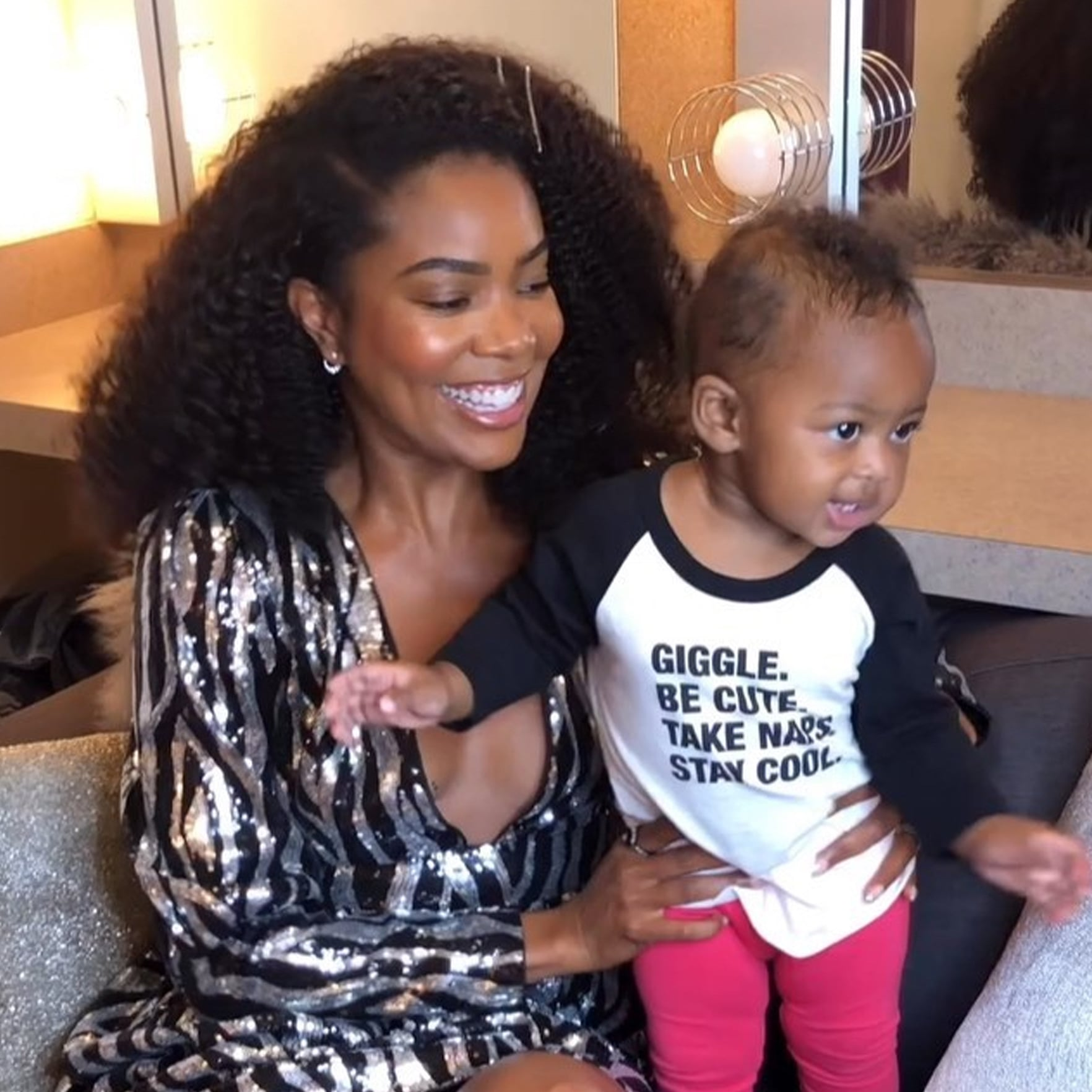 Gabrielle Union's Baby Girl Kaavia's Facial Expressions Make Fans Laugh - See This Clip