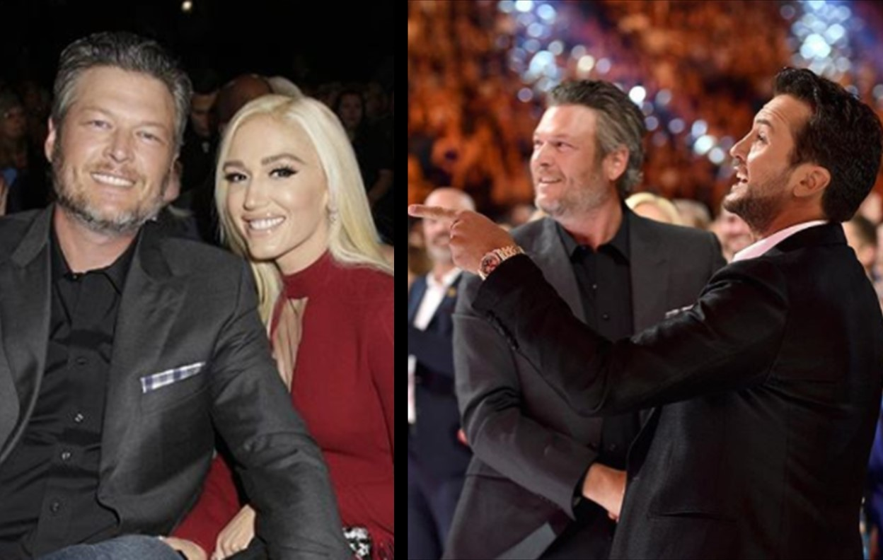 """luke-bryan-teases-pal-blake-shelton-by-arguing-that-him-dating-gwen-stefani-is-why-people-are-even-listening-to-his-music"""