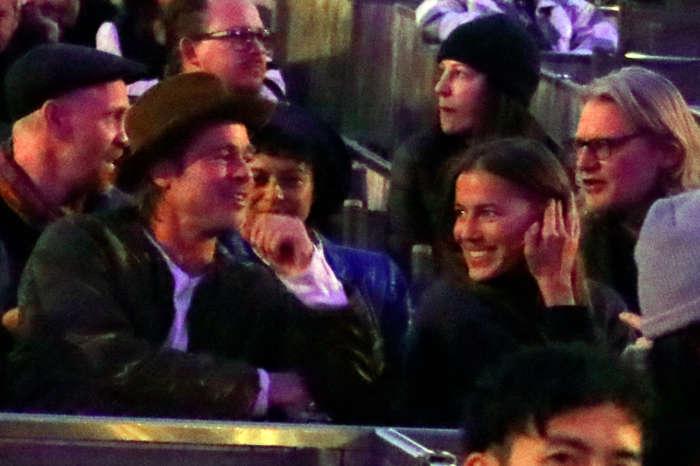 Brad Pitt And New GF Nicole Poturalski Spotted At Kanye West Concert Back In November