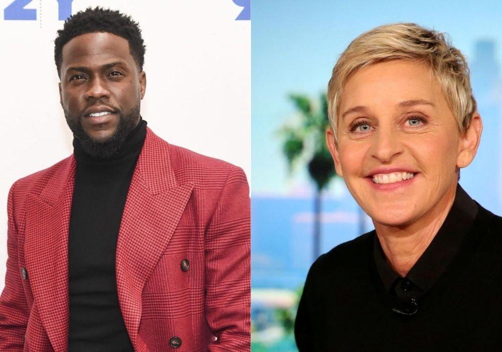 Kevin Hart and Ellen DeGeneres