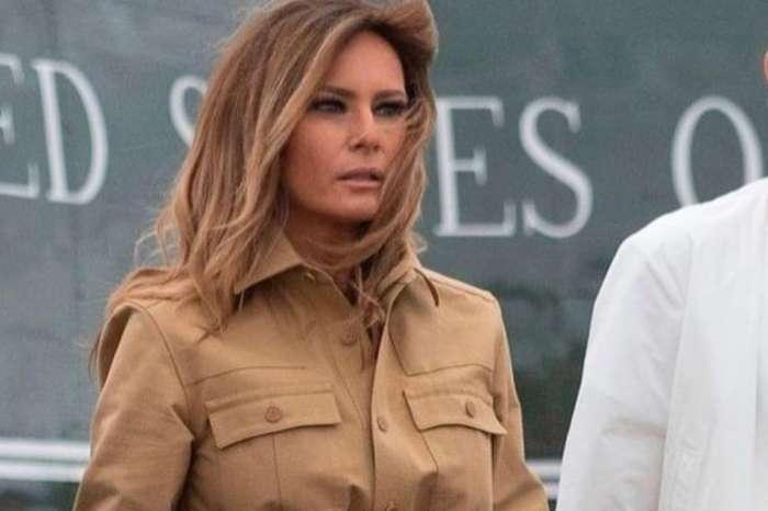 Melania Trump Stuns In Stella McCartney Dress And Carries Hermes Birkin Bag