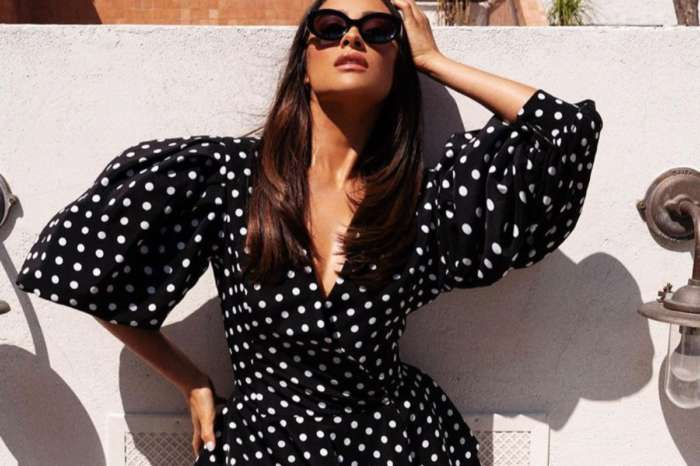 Shay Mitchell Puts On An Elegant Display In Romy Polka Dot Jacket