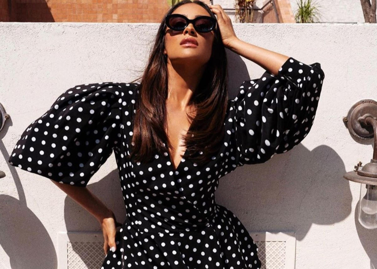 shay-mitchell-puts-on-an-elegant-display-in-romy-polka-dot-jacket