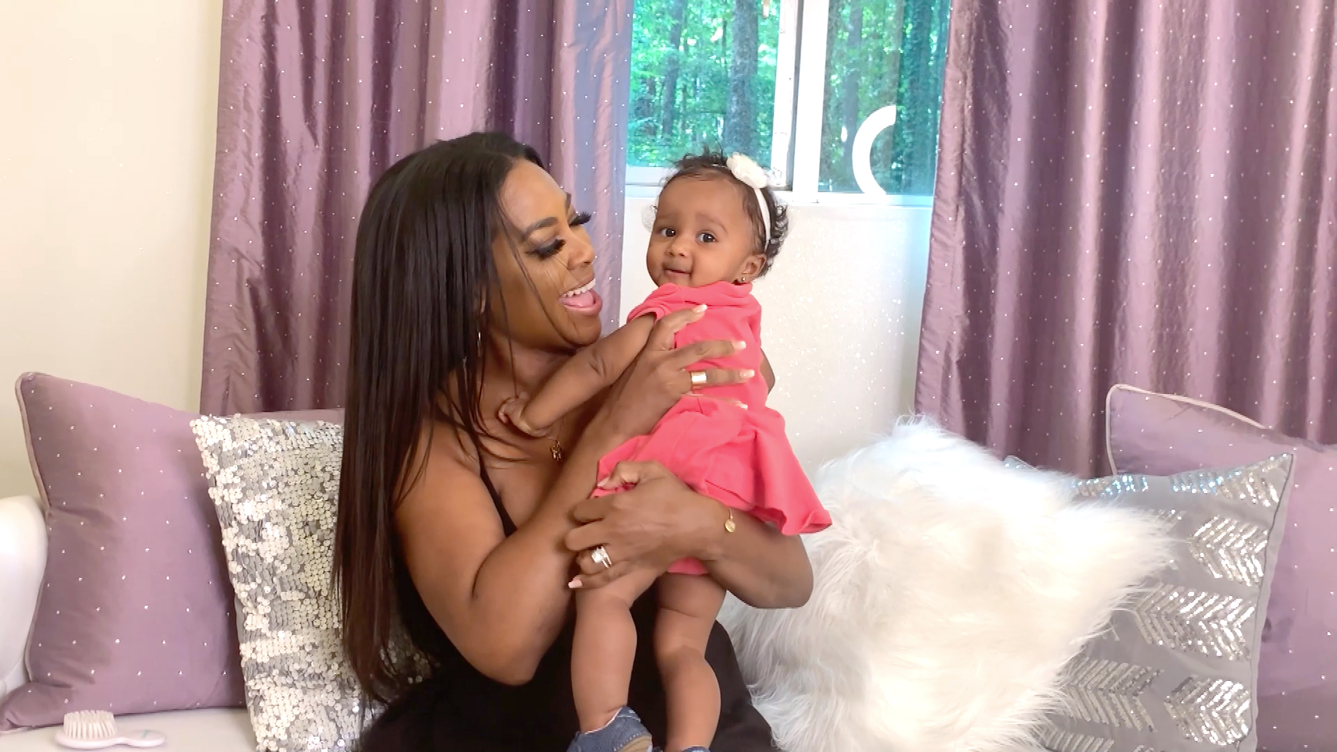 Kenya Moore Shares A Sweet Throwback Photo Featuring Her Baby Girl, Brooklyn Daly From Paris