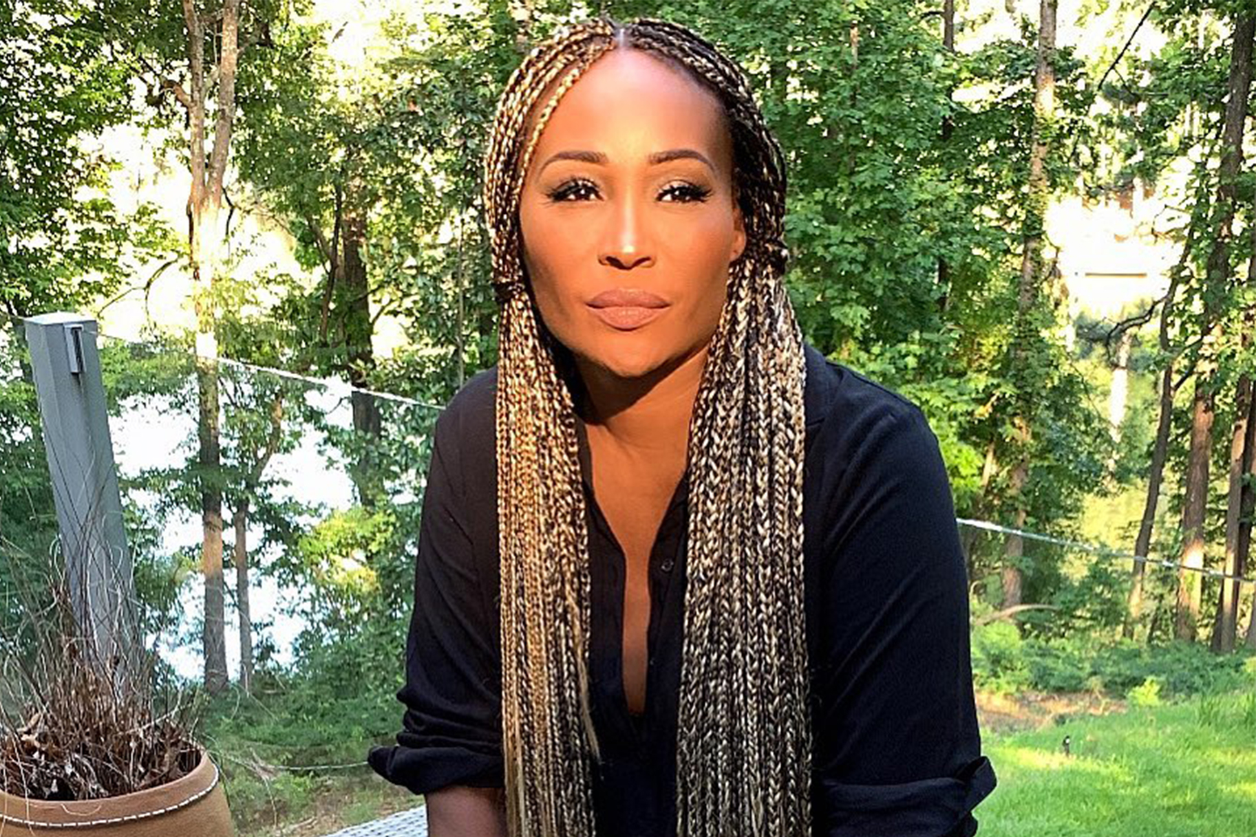 cynthia-bailey-has-the-most-relaxing-time-at-the-lake