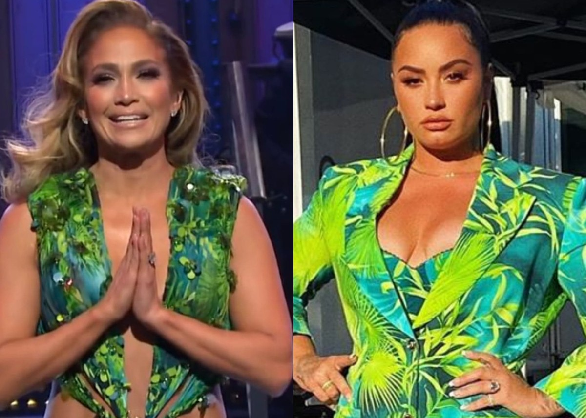 """demi-lovato-looks-exquisite-in-the-versace-jungle-print-that-j-lo-made-famous-see-the-photos"""