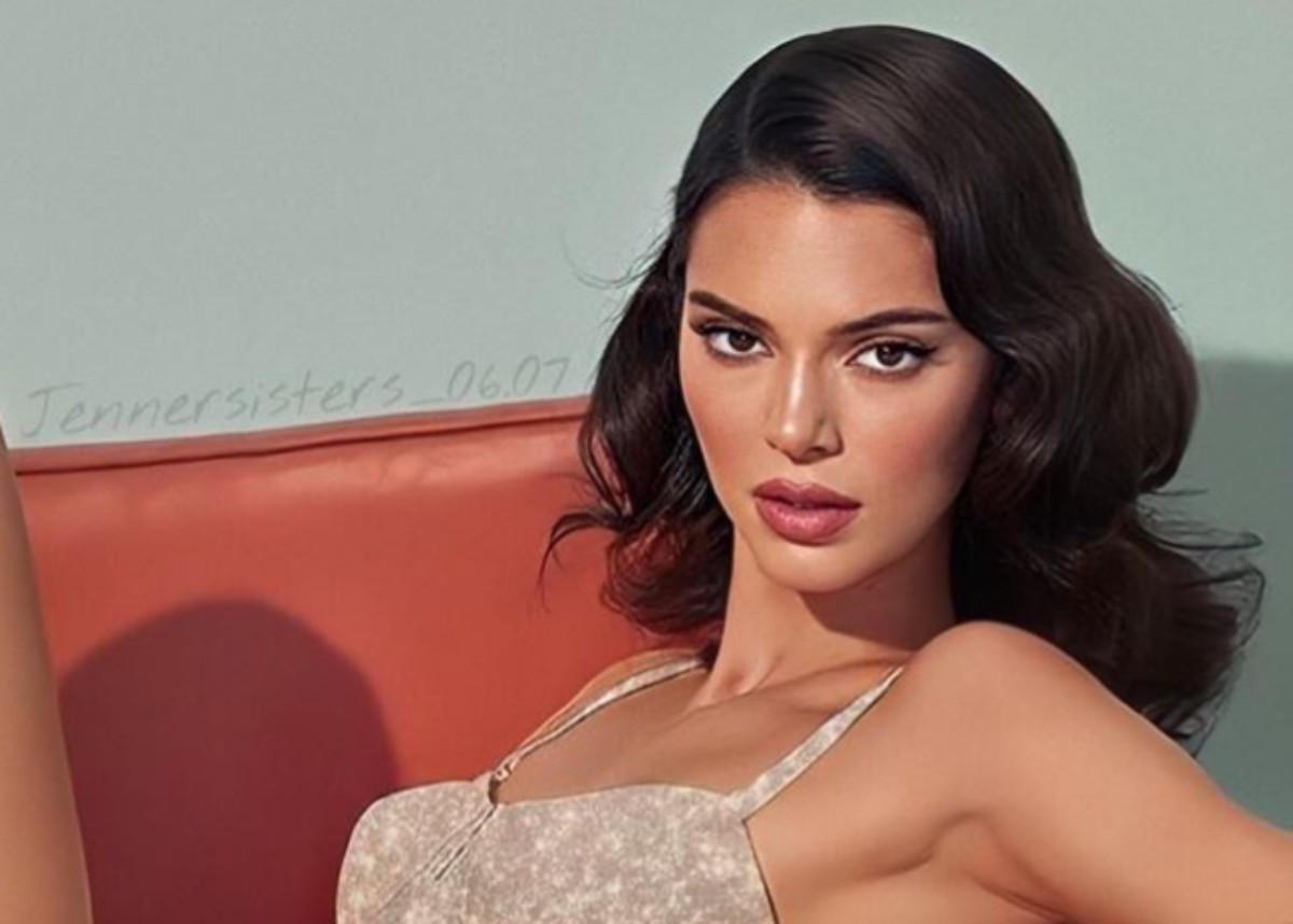 kendall-jenner-stuns-in-brown-maxi-dress-with-slicked-hair-look