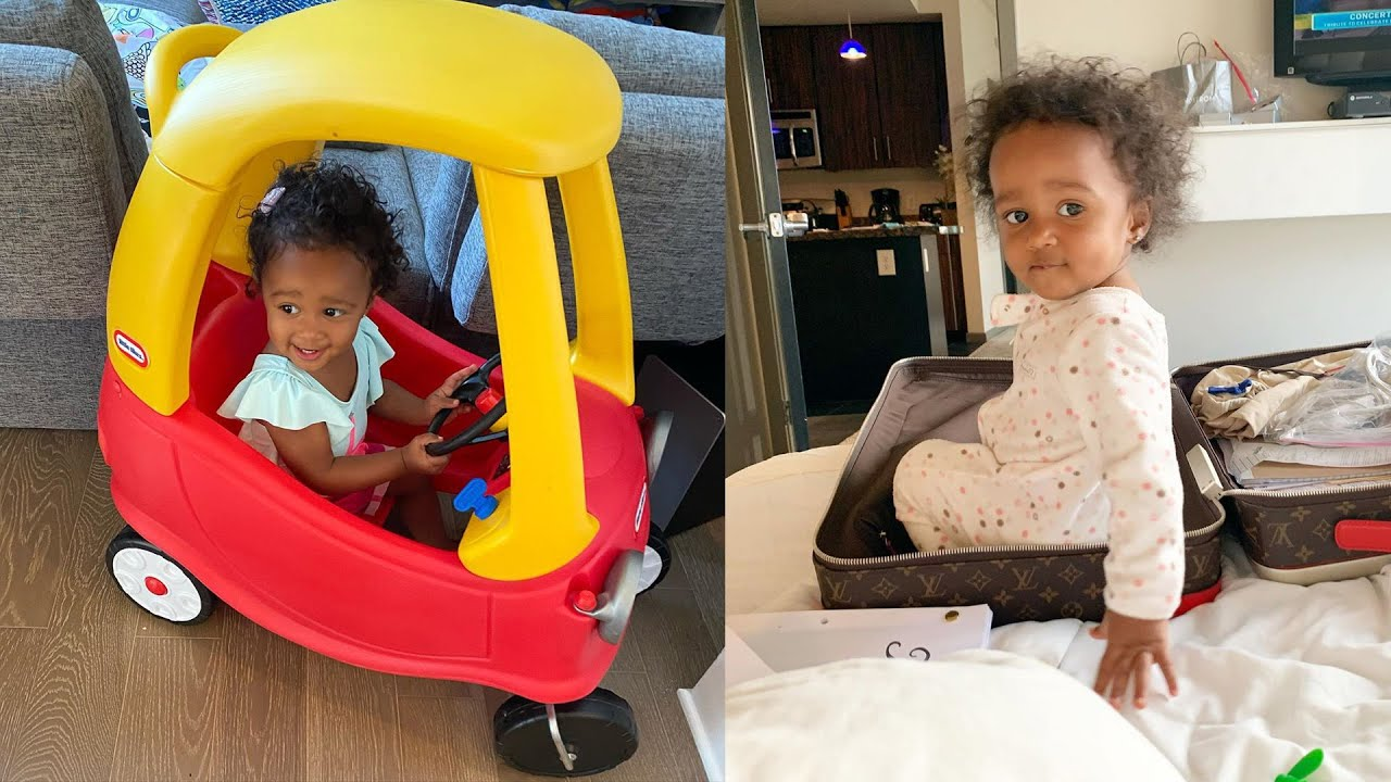 Kenya Moore's Baby Girl Brooklyn Daly Looks Gorgeous In The Cutest Swimsuit