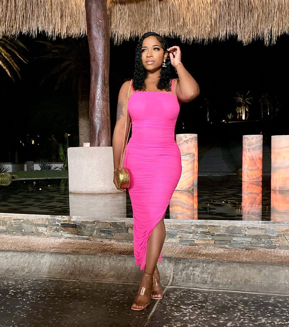 Toya Johnson Is Glowing In An Alexander Wang Outfit