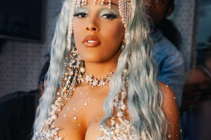 Doja Cat Puts Her Curves On Full Display In Chain And Swarovski Crystal Two Piece Bathing Suit — See The Look