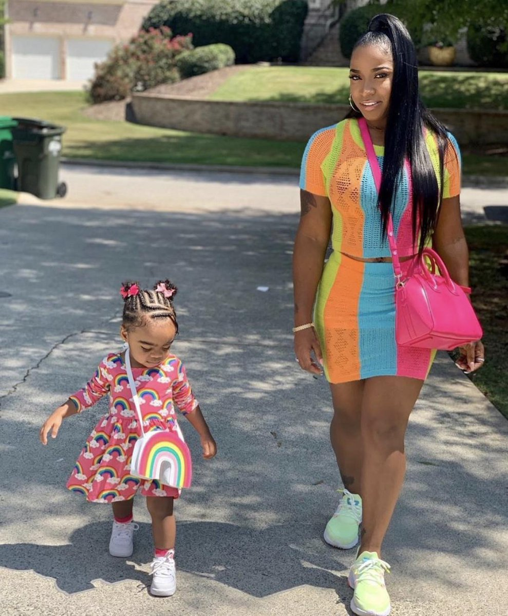 Toya Johnson Is Twinning With Reign Rushing - Check Out Their Playtime Photos!