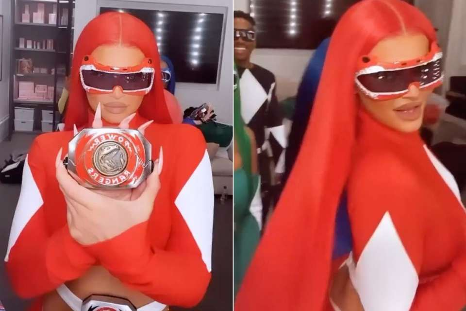 KUWTK Star Kylie Jenner Is A Sexy Red Power Ranger Ahead of Halloween - Check Her Video Here!