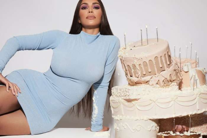 Kim Kardashian Celebrates Her Birthday Month By Jumping Out Of A Cake In A Two-Piece Bathing Suit, Wears LaQuan Smith