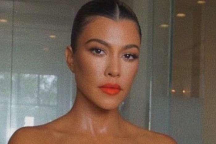 Kourtney Kardashian Puts Her Curves On Display In Silky Camisole