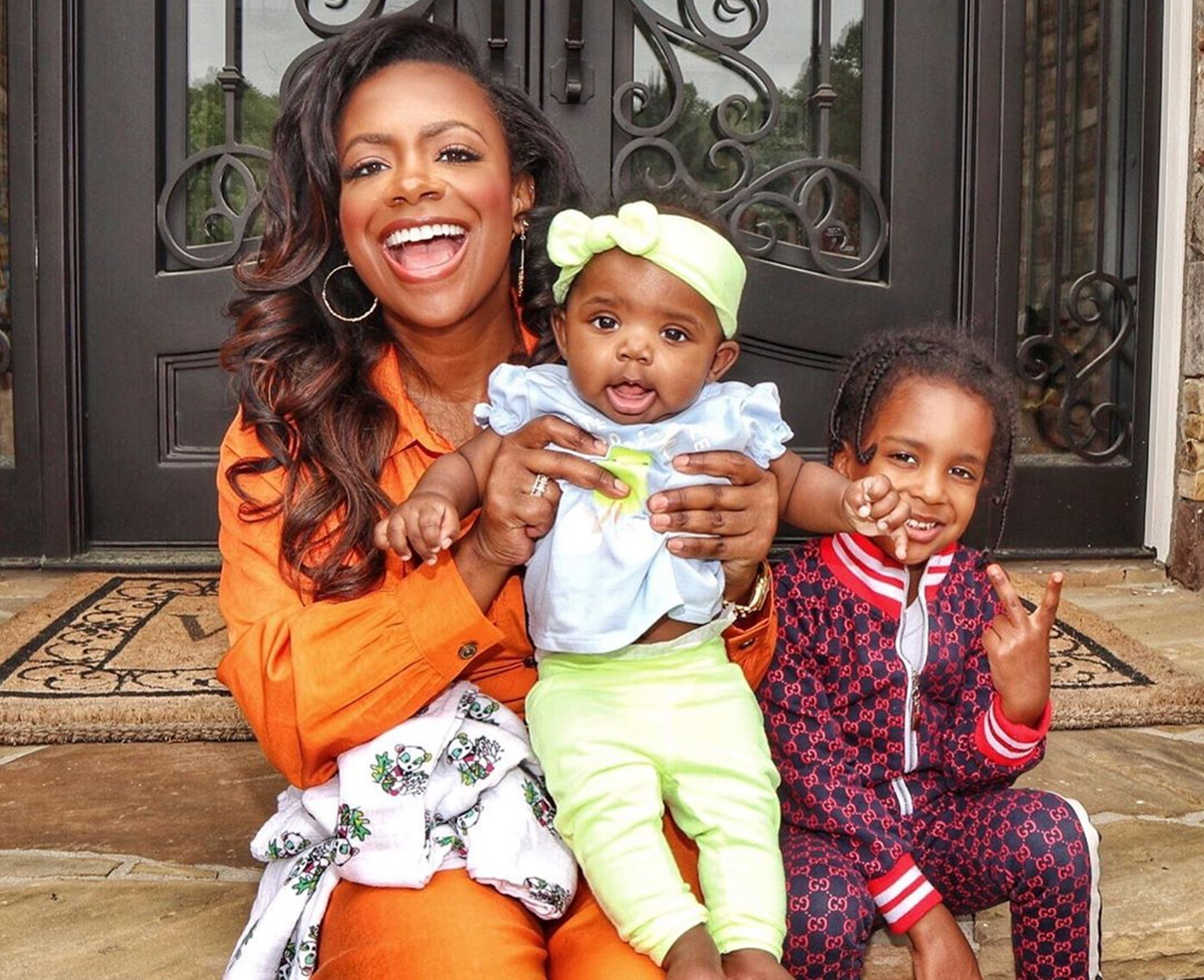 Kandi Burruss' Daughter, Blaze Tucker Is A Busy Girl, Checking Out What's Going On In Ace Wells Tucker's Room - Check Out The Funny Video