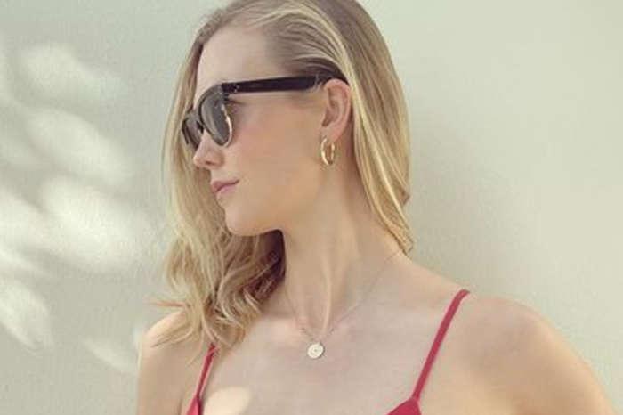 Karlie Kloss Puts Her Baby Bump On Full Display In Red, Amaio Bikini — See The Look