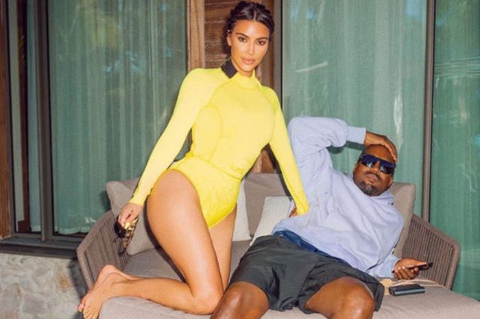 Kim Kardashian Poses With Kanye West As He Hints He'll Run For President In 2024
