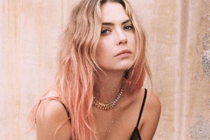 Ashley Benson Puts On A Sensual Display In Fleur Du Mal Slip Dress And Catches Paris Hilton's Attention