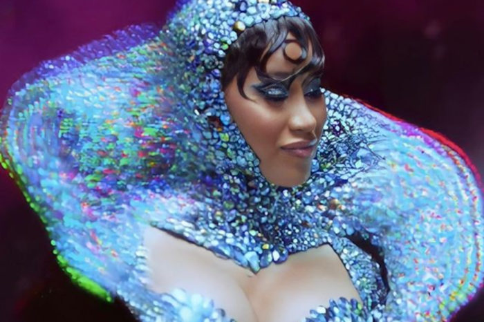 Cardi B Wore Custom Rocky Gathercole For Her Truth Teller Psychic Ad