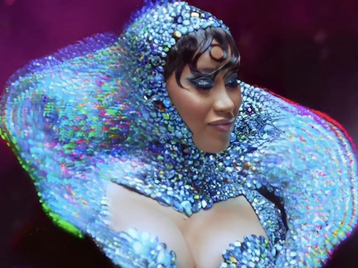 """""""cardi-b-wore-custom-rocky-gathercole-for-her-truth-teller-psychic-ad"""""""