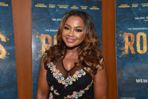 Phaedra Parks Shows Off Her Generous Curves In This Blue Skin-Tight Dress