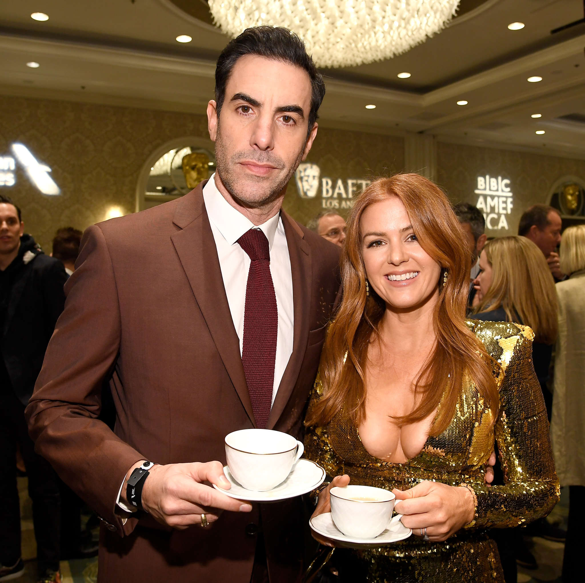 Celebrity Breaking News - Isla Fisher Reveals She Threatened To Never Speak To Her Husband Sacha Baron Cohen Again Because He Cut Her Favorite Joke Out Of The Newest 'Borat' Movie! | NewsBurrow thumbnail
