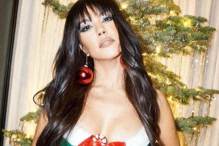 Kourtney Kardashian Wears Skimpy Christmas Mini Dress And Says She Is The Present — Khloe Kardashian Responds