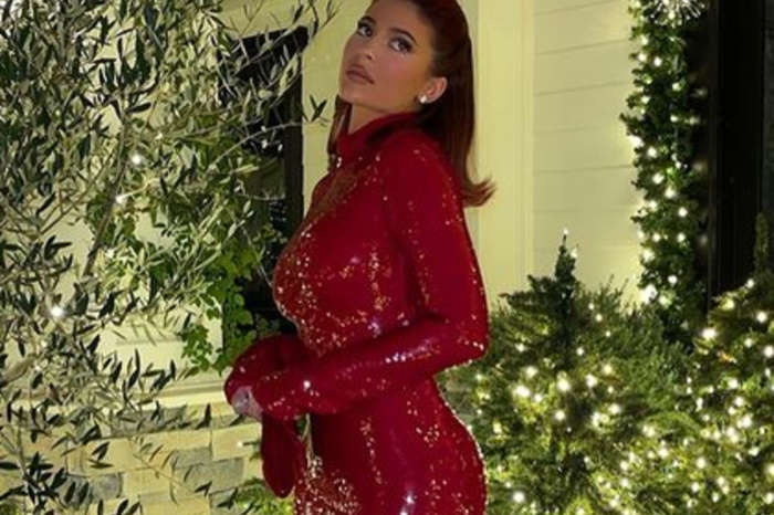 Kylie Jenner Flaunts Her Curves In A Festive, Red Cutout Dress