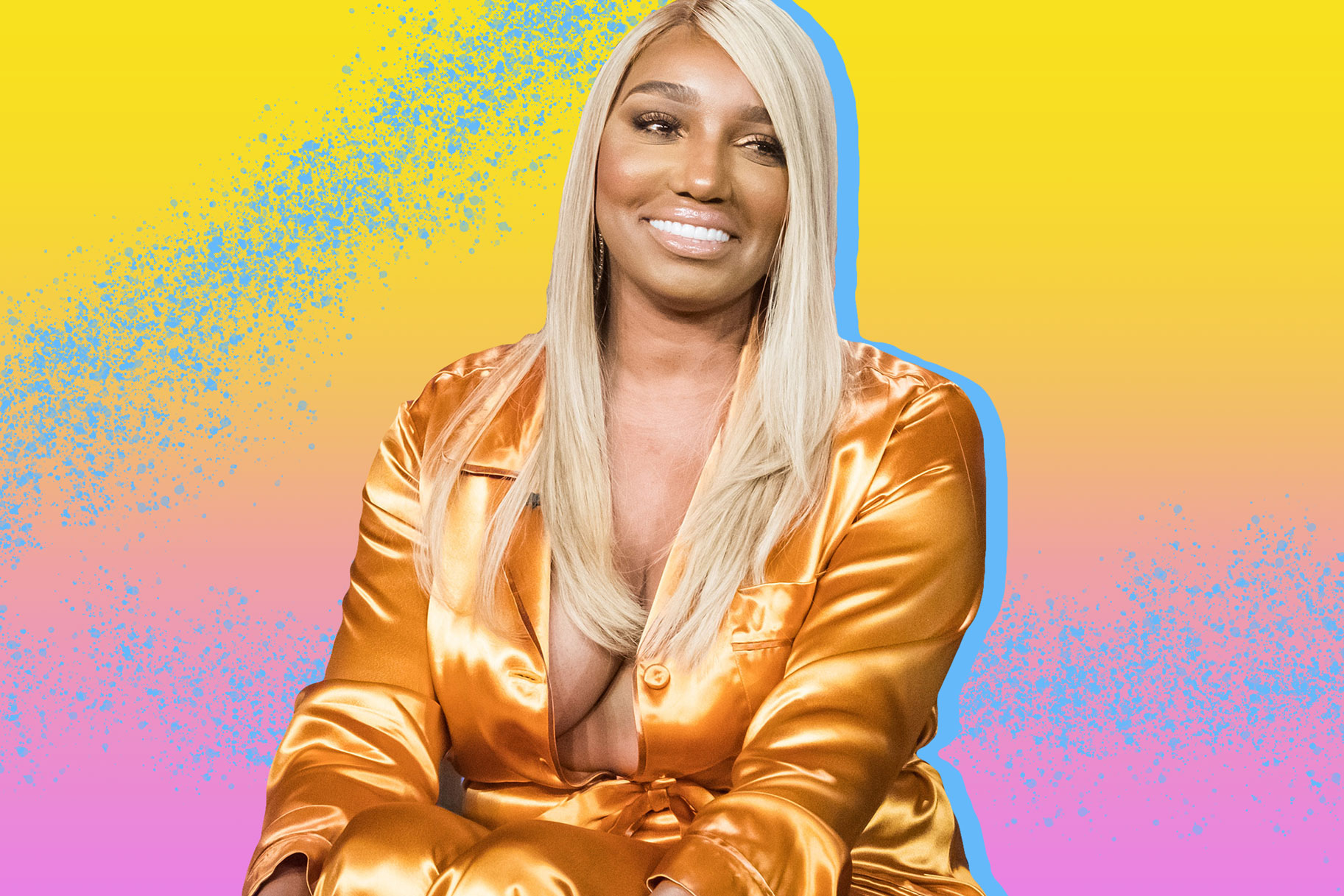 NeNe Leakes Breaks The Internet With Her Saggitarius Energy - She's Flaunting Her Goodies In Blue Lingerie For Her Birthday