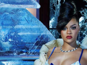 Rihanna Dazzles In Velvet Savage X Fenty Bra And Panties With Latex Stockings — See The Look