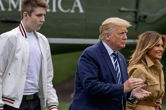 Barron Trump's Absence As Melania And Donald Trump Leave The White House Gets The Meme Treatment