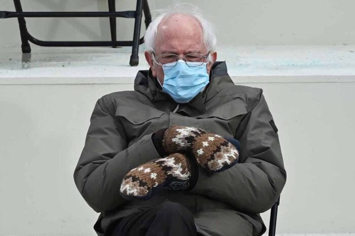 Bernie Sanders Addresses The Hilarious Memes About His Inauguration Outfit!