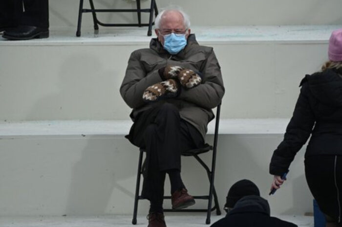 Bernie Sanders Goes Viral For Laid-Back Inaugural Attire