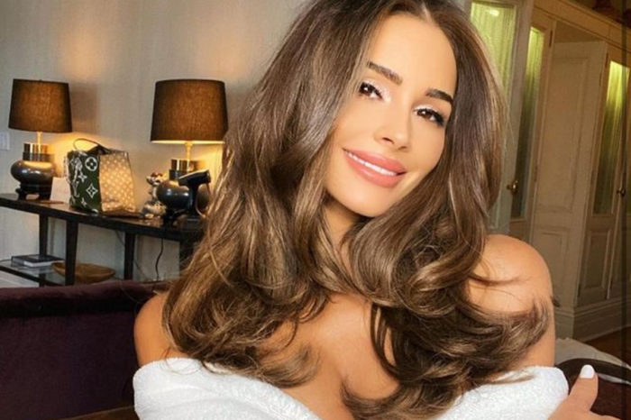 Olivia Culpo Wears Just A Blazer With Thigh-High Boots — See The Look!