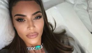 Kim Kardashian Drops Her Top For New Skims Campaign
