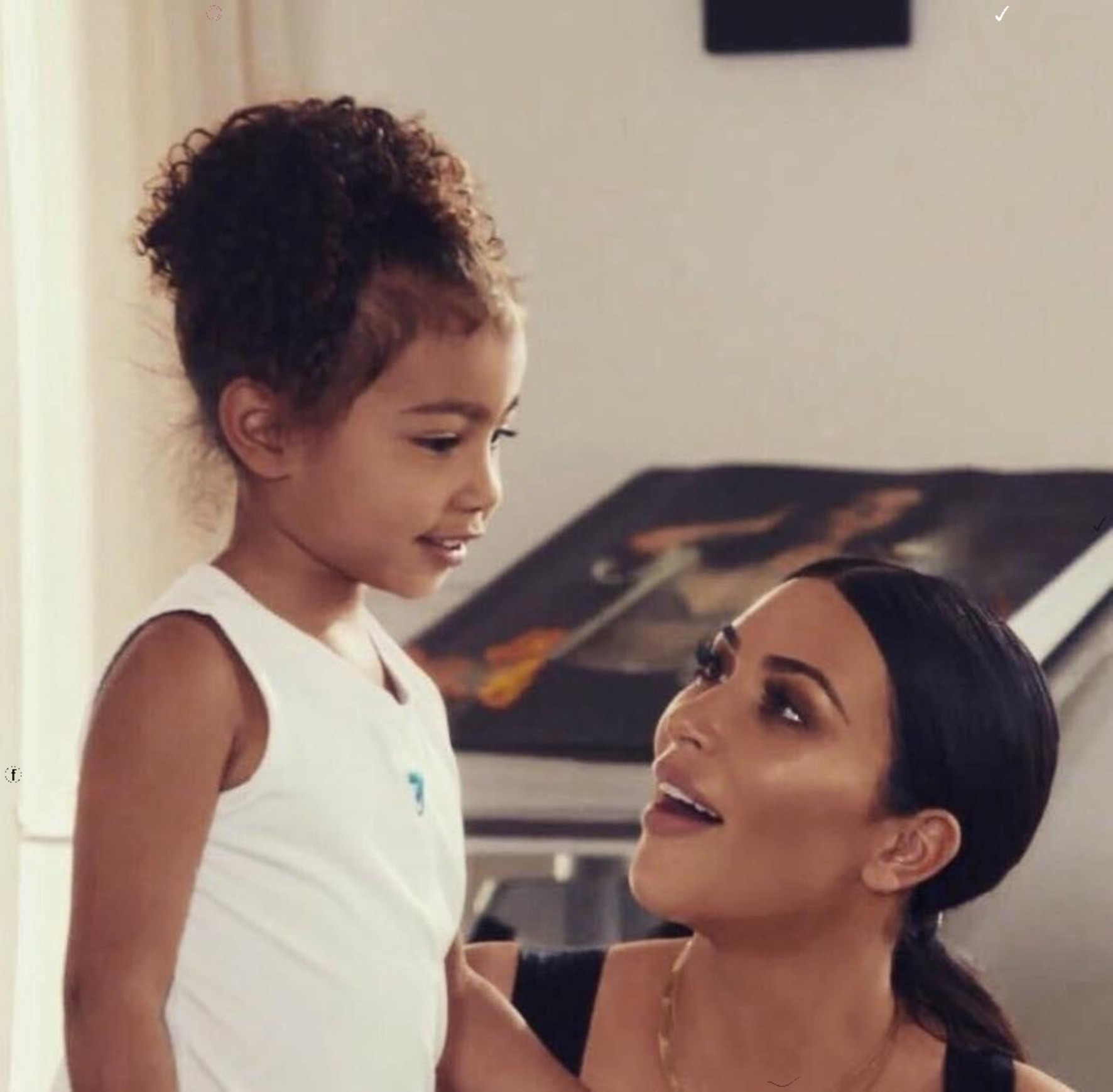 """kuwtk-kim-kardashian-fiercely-defends-daughter-north-west-after-critics-doubt-stunning-painting-was-done-by-the-7-year-old"""