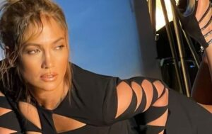 Jennifer Lopez Flaunts Her Curves In Cut-Out Mini Dress