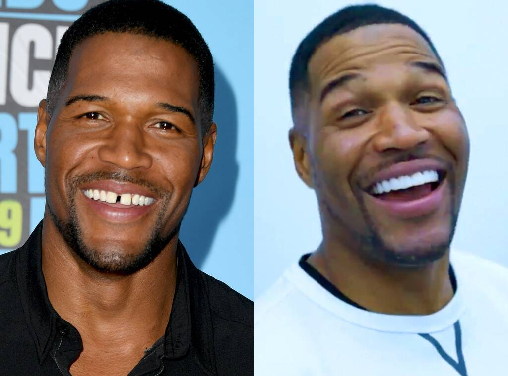 """michael-strahan-gets-rid-of-his-iconic-tooth-gap-check-out-the-video"""